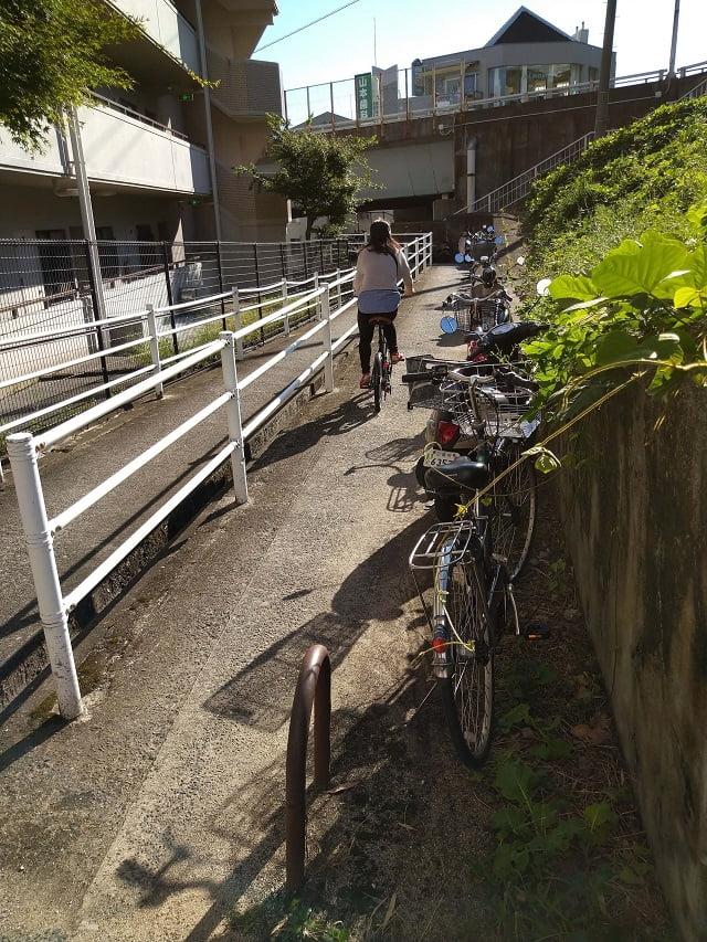 新井口駅 周辺 駐輪場