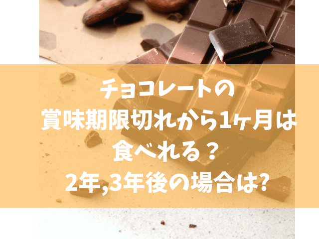 チョコレート 賞味期限切れ 1ヶ月